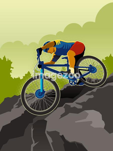 A picture of a mountain biker
