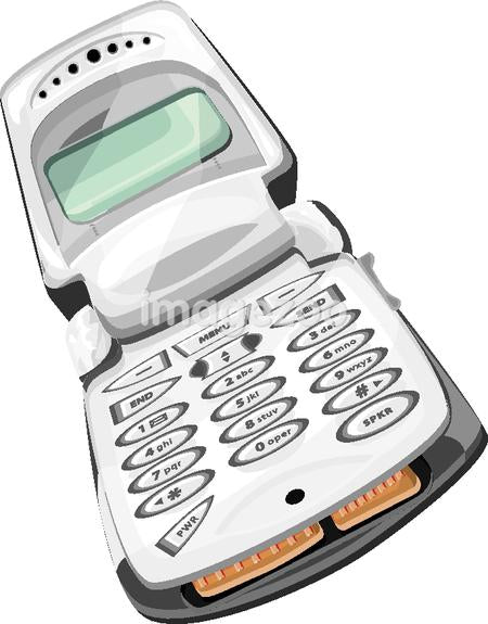 Illustration of a flip cell phone