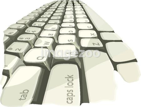Illustration of a computer keyboard