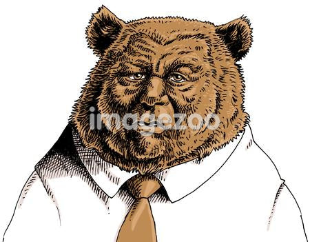 Businessman with bear's head