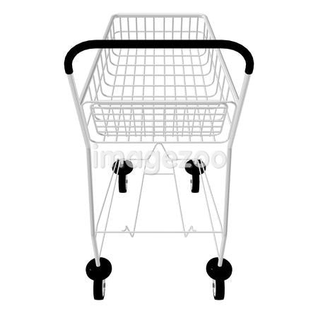 A 3D style image of a shopping trolley