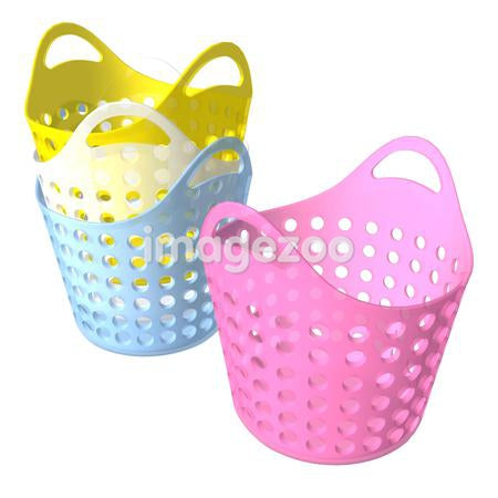 A 3D style image of laundry baskets