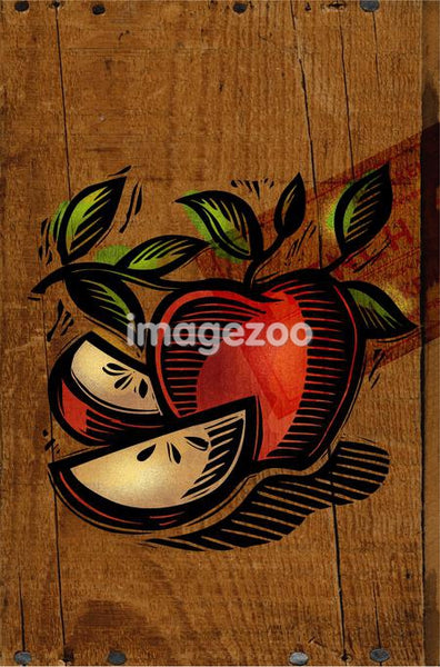 A decorative apple collage
