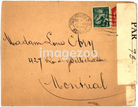 Vintage envelope with script writing, from Montreal