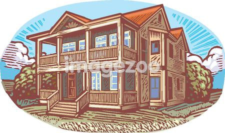 A pictorial representation of a two storey house