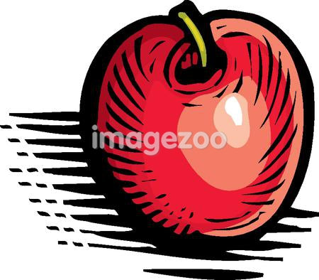 A pictorial representation of a shiny red apple