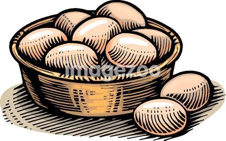 An illustration of a basket of eggs