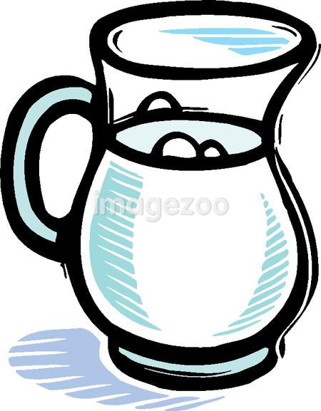 An illustration of a pitcher of milk
