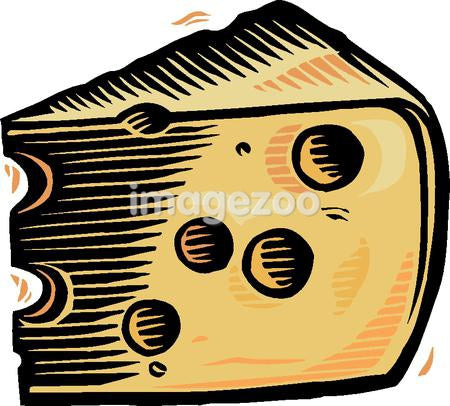 An illustration of swiss cheese with holes