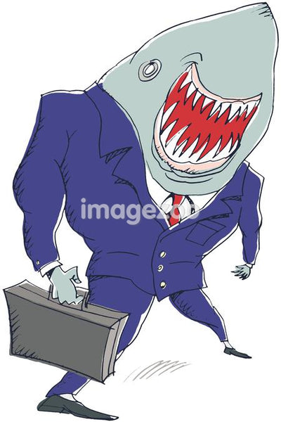 businessman shark
