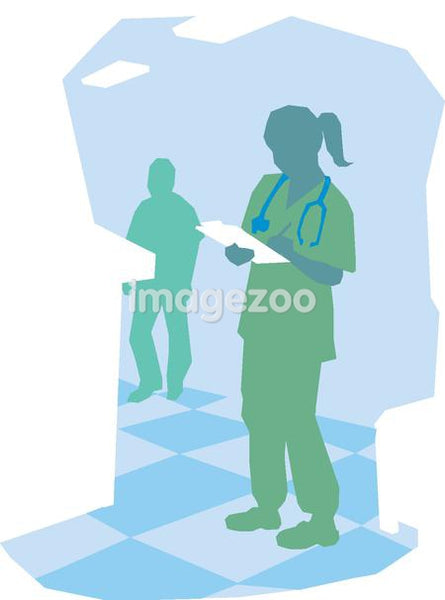 A nurse writing notes on a clipboard