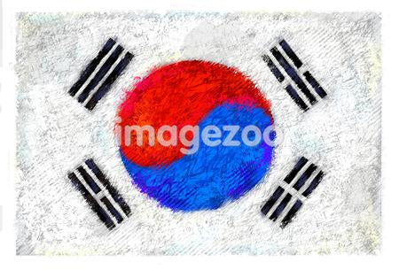 Drawing of the flag of South Korea