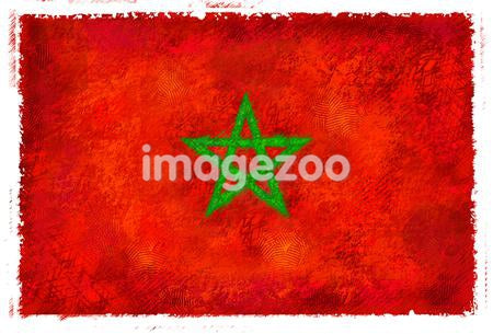 Drawing of the flag of Morocco