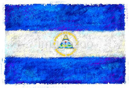 Drawing of the flag of Nicaragua