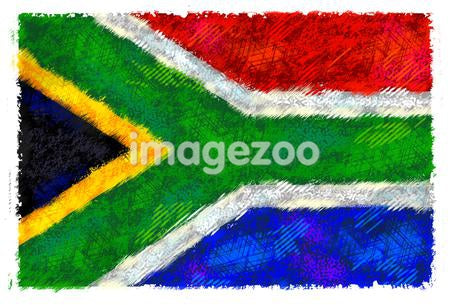 Drawing of the flag of South Africa