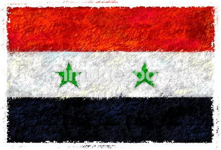 Drawing of the flag of Syria