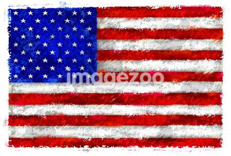 Drawing of the flag of the United States