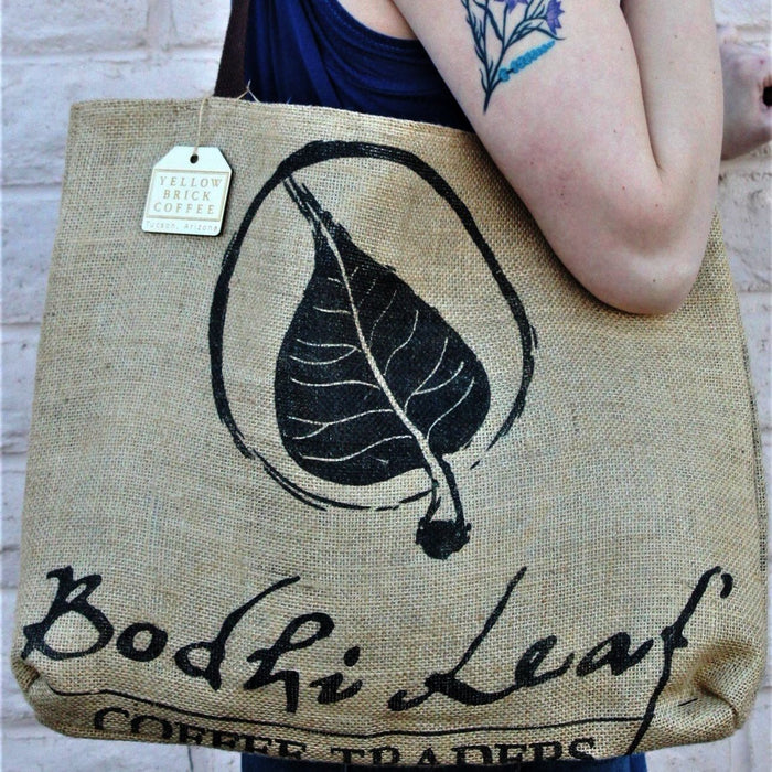"Coffee Tote - ""Coffee Leaf"""
