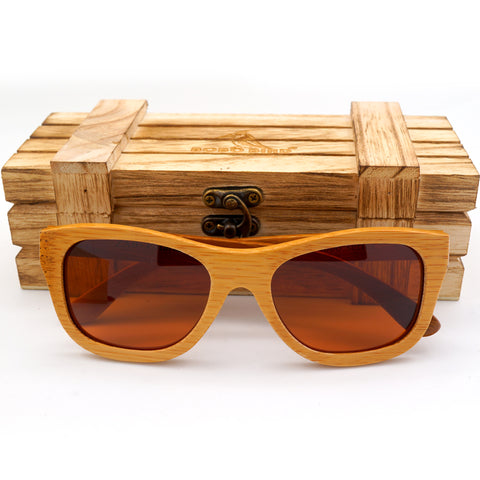 Rustic Brown Handmade Polarized Bamboo Sunglasses