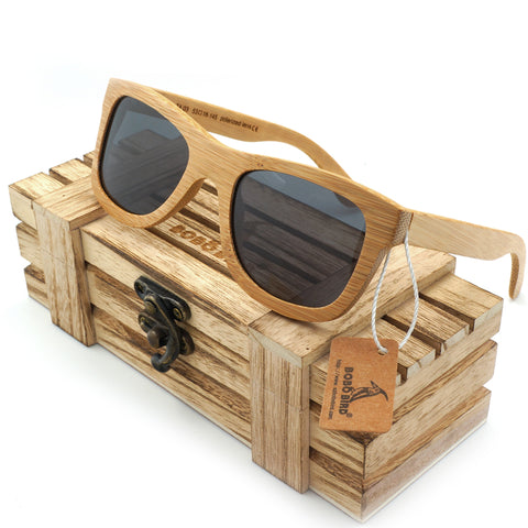 Rustic Grey Handmade Polarized Bamboo Sunglasses