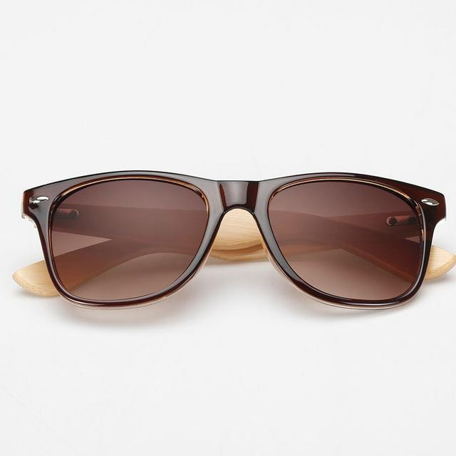 Nomad Zebra Bamboo Wood Sunglasses