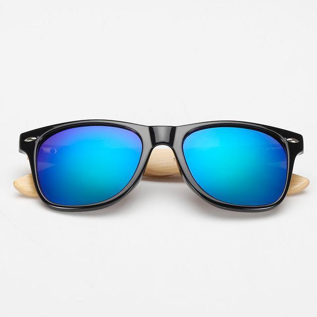 Oceanic Blue Bamboo Wood Sunglasses
