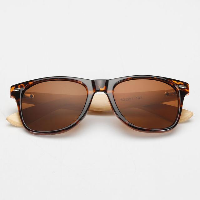 Primal Zebra Bamboo Wood Sunglasses