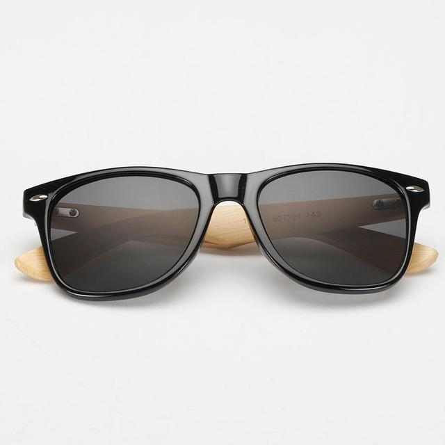 Midnight Black Bamboo Wood Sunglasses