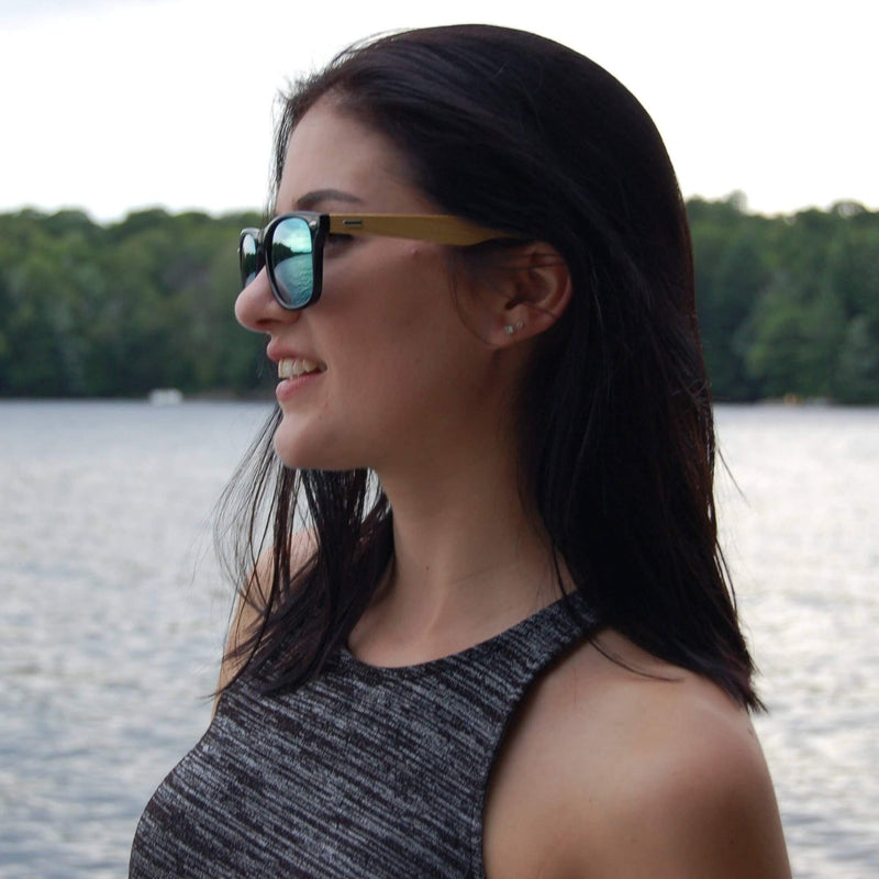 Interstellar Mirror Bamboo Wood Sunglasses