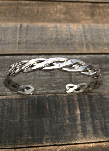 Braided Sterling Bracelet