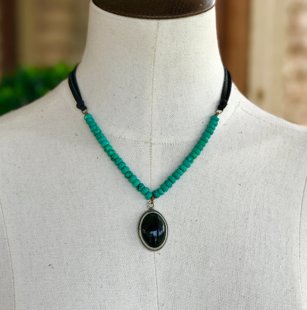 Green and Onyx Necklace