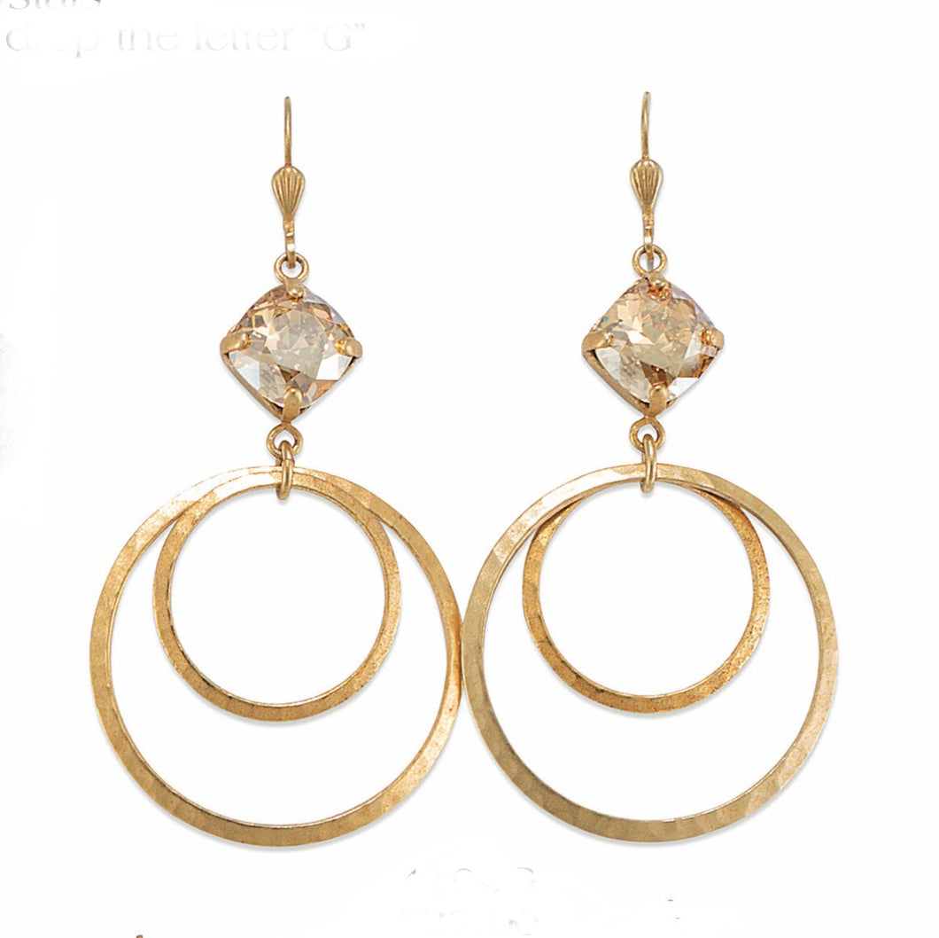 Champagne Gold Double Hoop Earrings