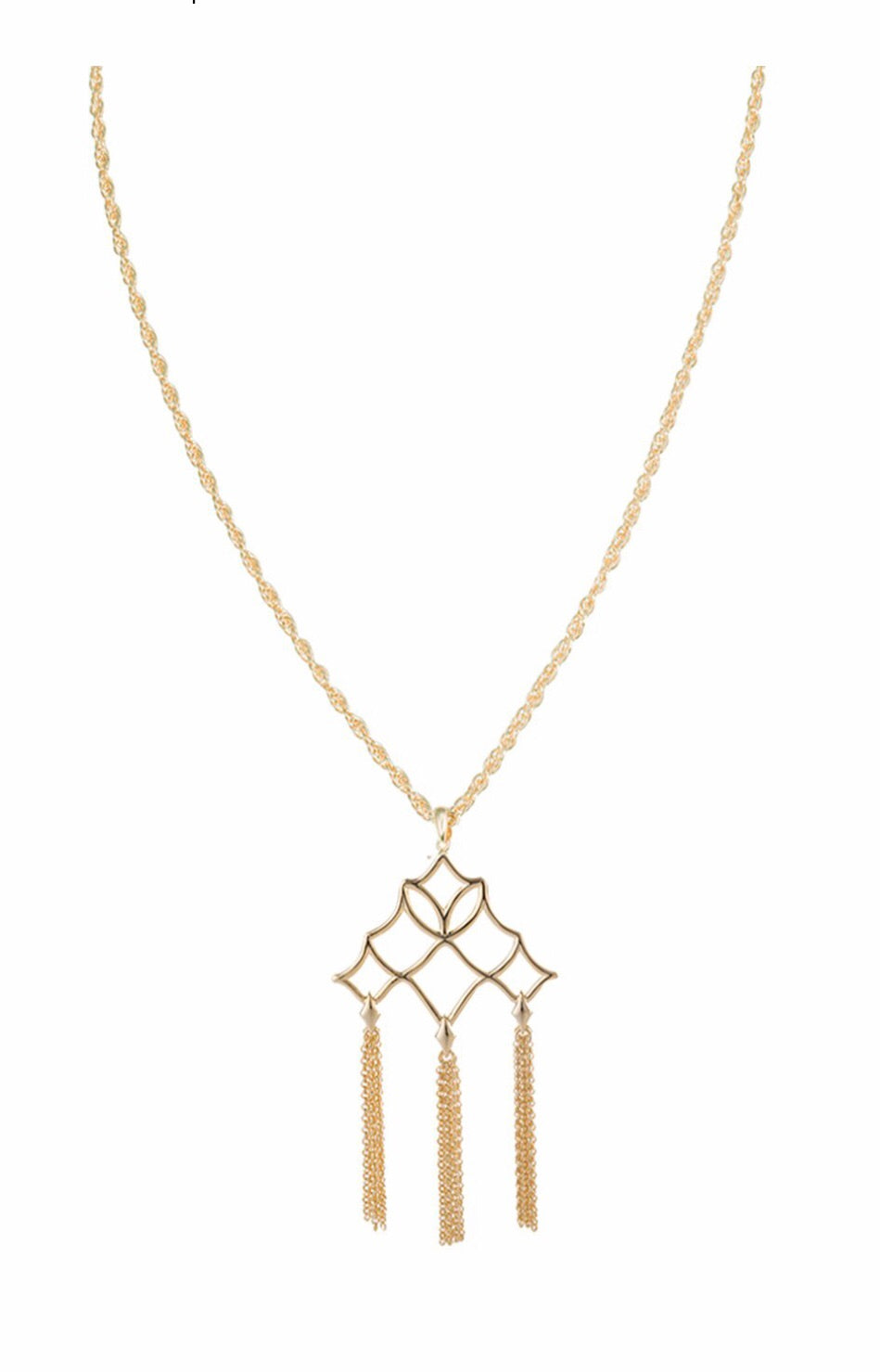 Southern Charm Tassel Pendant Necklace Gold