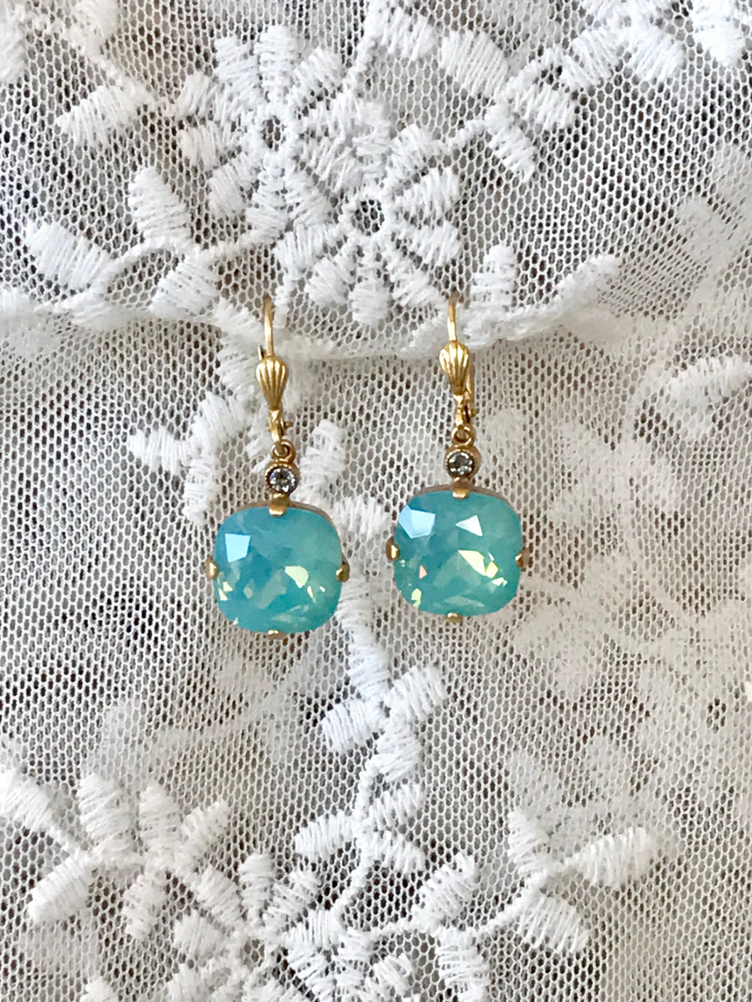 Pacific Opal Crystal Drop Earrings