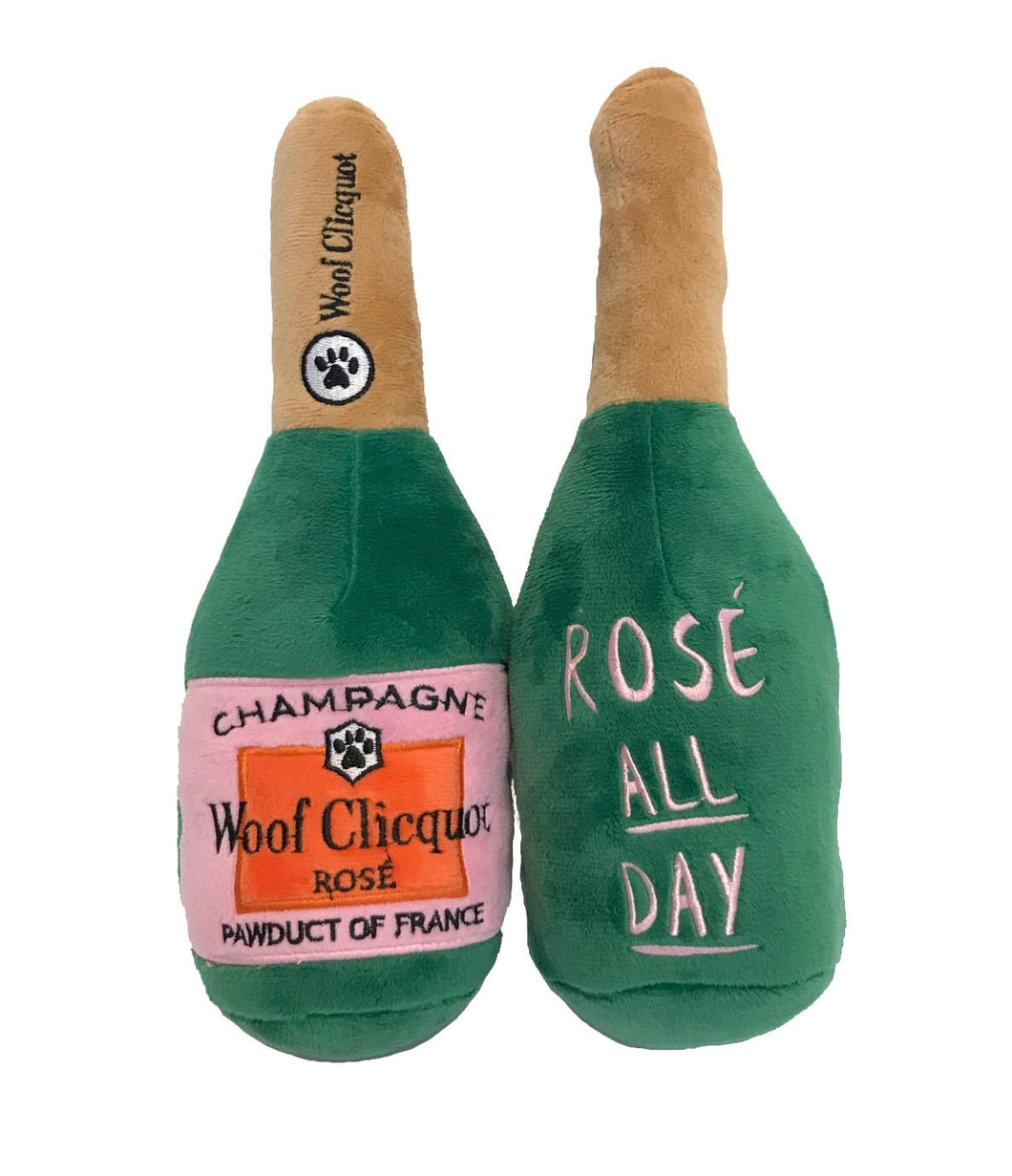 Woof Clicquot Rose Champagne Bottle