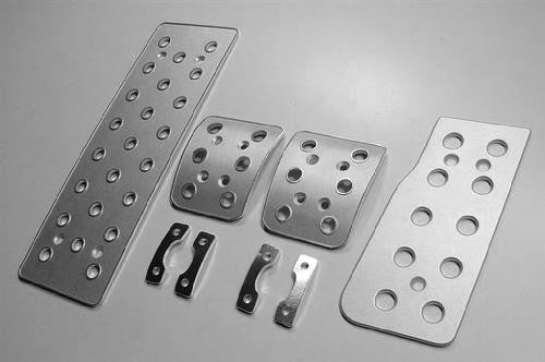 corvette billet aluminum racing pedals - pedal covers