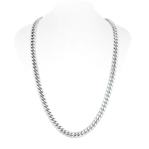 Sterling Silver Miami Cuban Link Chain With Box Clasp | 10mm