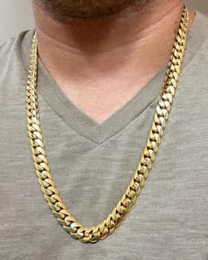 Vermeil Miami Cuban Link Chain With Box Clasp | 10mm