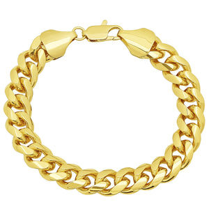 11mm Gold Layered Miami Cuban Link Bracelet
