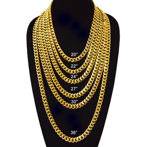 11mm Gold Plated Miami Cuban Link Chain