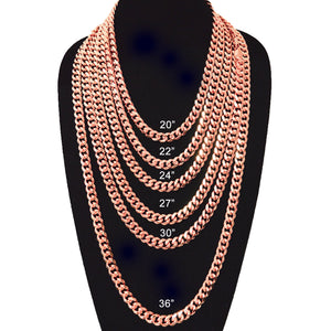 11mm Rose Gold Plated Miami Cuban Link Chain