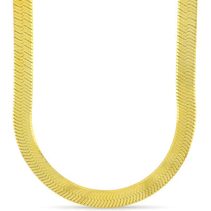 11mm Gold Plated Herringbone Chain