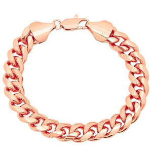 11mm Rose Gold Layered Miami Cuban Link Bracelet