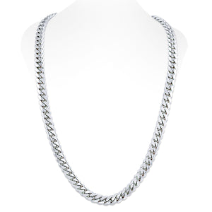 Sterling Silver Miami Cuban Link Chain With Box Clasp | 12mm
