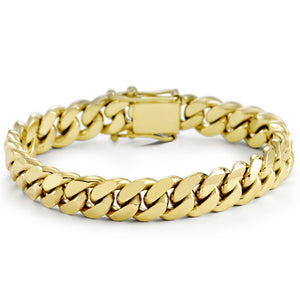 Vermeil Miami Cuban Link Bracelet With Box Clasp | 12mm