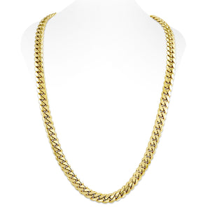 Vermeil Miami Cuban Link Chain With Box Clasp | 12mm
