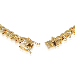 Solid Gold Miami Cuban Link Chain 10k & 14k Yellow Gold | 14mm