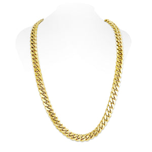 Vermeil Miami Cuban Link Chain With Box Clasp | 14mm