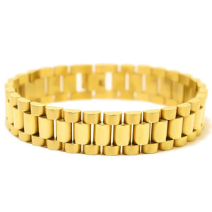 15mm Gold Watch Link Bracelet