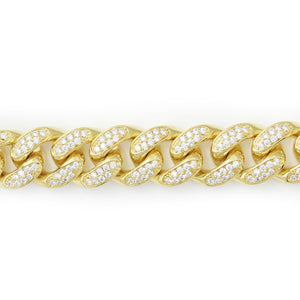 18mm Iced Out Cuban Link Chain
